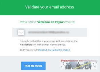 Подтвердите адрес электронной почты в Payza