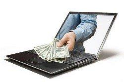 Получение денег в интернете