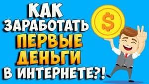 Как заработать в интернете первые деньги
